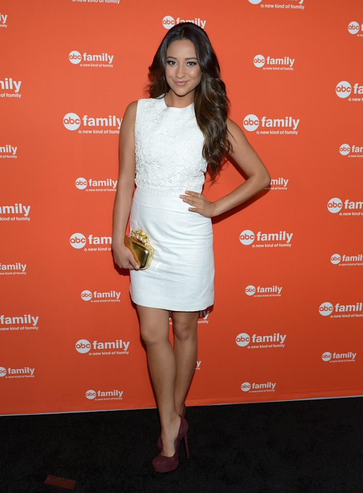 """Shay Mitchell (""""Pretty Little Liars"""") arrives at ABC Family's West Coast Upfronts at The Sayers Club on May 1, 2012 in Hollywood, California."""