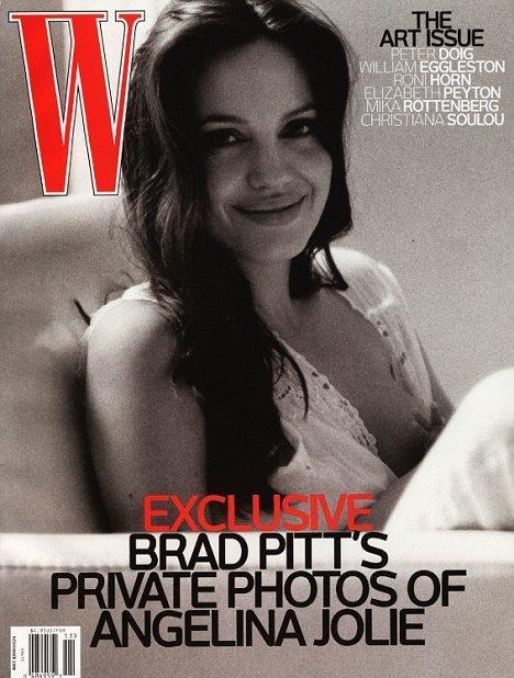 <p>This home photo of Angelina Jolie breastfeeding one of her twins, featured in <i>W!</i> magazine. Brad was the photographer who took this lovely snapshot. <i>[W Magazine]</i> </p>