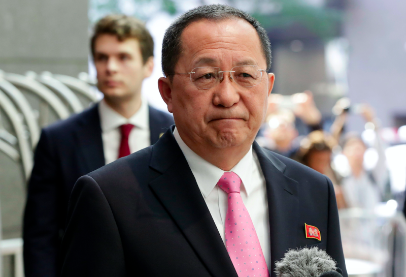 North Korea's foreign minister Ri Yong Ho said the US has declared war on his country (Picture: PA)
