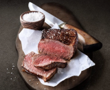 <p>Allow me to spell it out for you—steak for brunch.</p>
