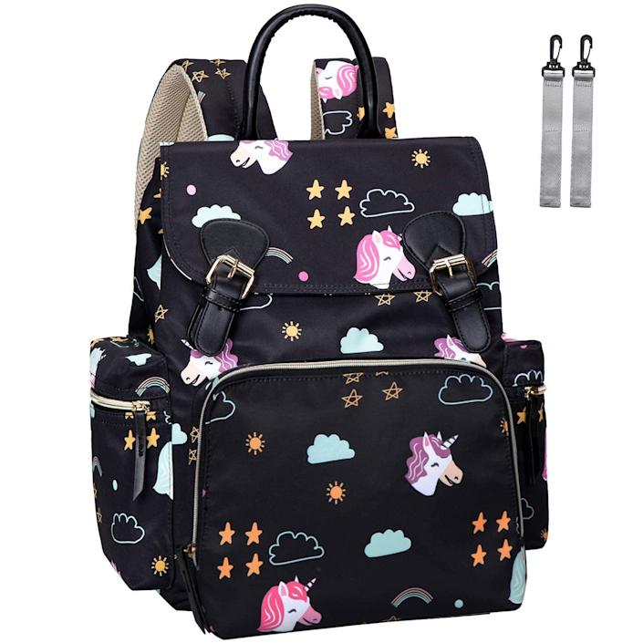 <p>Not only does this <span>Leegoyo Diaper Bag Backpack</span> ($29) have the cutest unicorn design, but it contains multiple pockets for all your essentials. You can also wear it in multiple ways.</p>