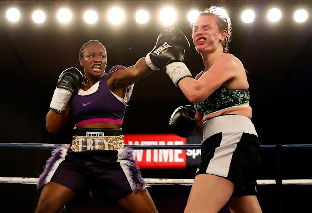 Two-time gold medalist Claressa Shields improved to 2-0 as a professional on Friday. (Getty Images)