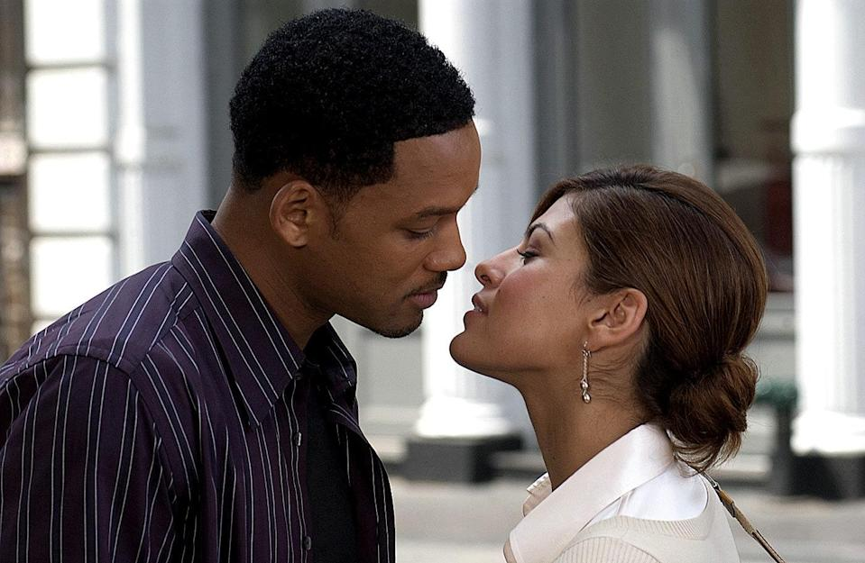"<p>Will Smith is known for being a charming guy—so imagine how next-level he is as Hitch, a smooth dating coach who helps his clients impress their dates. Few could hold their own against that much shine, but Eva Mendes certainly does in this beloved romantic comedy.</p> <p><a href=""https://www.netflix.com/title/70019506"" rel=""nofollow noopener"" target=""_blank"" data-ylk=""slk:Available to stream on Netflix."" class=""link rapid-noclick-resp""><em>Available to stream on Netflix.</em></a></p>"