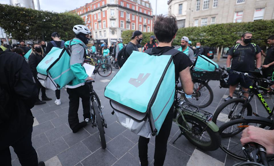 <p>It is the latest incident to increase tension between Deliveroo and many of its riders</p> (PA)