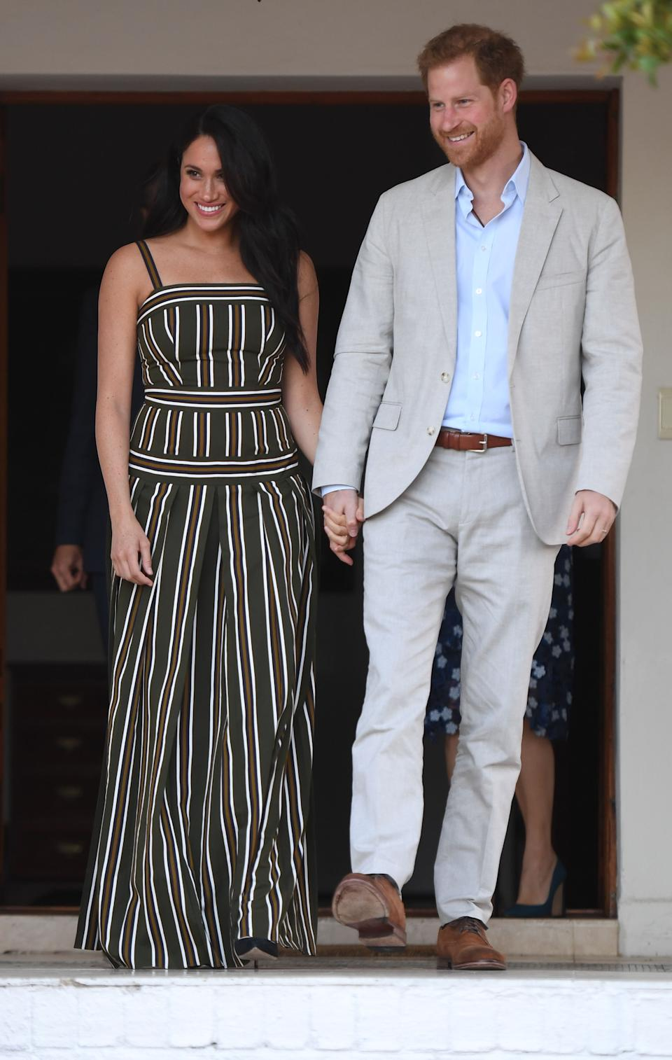 The Duke and Duchess arrived at the youth reception at the High Commissioner's Residence in Cape Town. [Photo: PA]