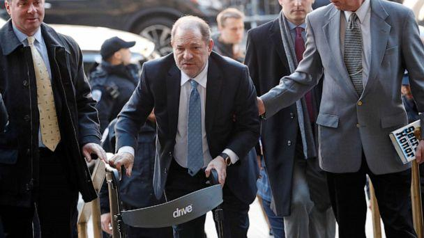 PHOTO: Harvey Weinstein arrives at New York Criminal Court in New York, Feb. 24, 2020. (Lucas Jackson/Reuters)