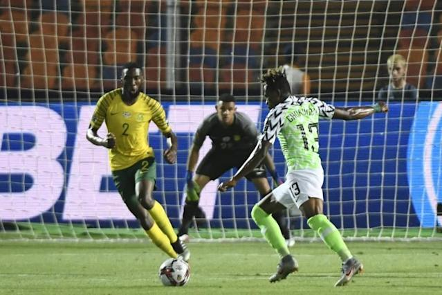 Samuel Chukwueze has made two starts and two substitute appearances in Nigeria's five games in Egypt (AFP Photo/Khaled DESOUKI)