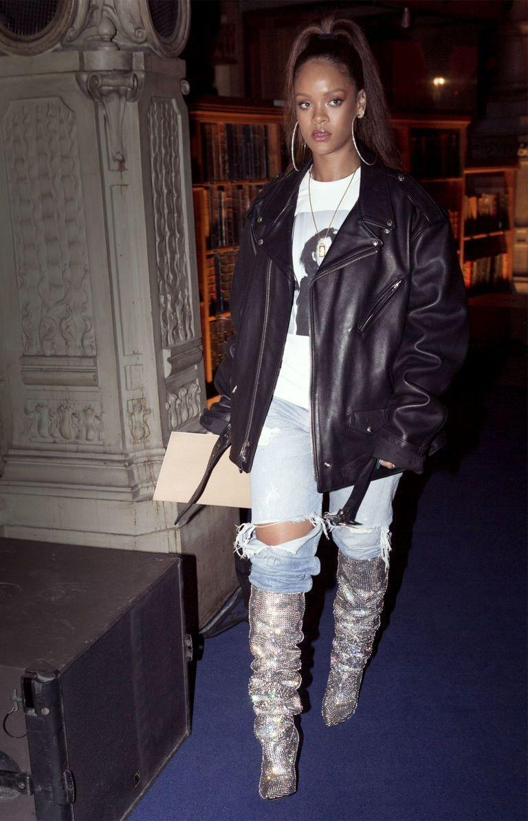 <p>The style icon fueled the hype surrounding the aforementioned boots when she posted a picture of herself wearing them fresh off the runway.</p>