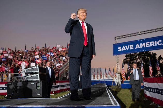 Former President Donald Trump greets supporters during his Save America rally in Perry, Georgia, on Sept. 25. (Photo: Ben Gray via Associated Press)