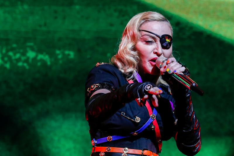 Madonna performs at the 2019 Pride Island concert during New York City Pride in New York City, New York, U.S., June 30, 2019. Picture taken June 30, 2019. REUTERS/Jeenah Moon