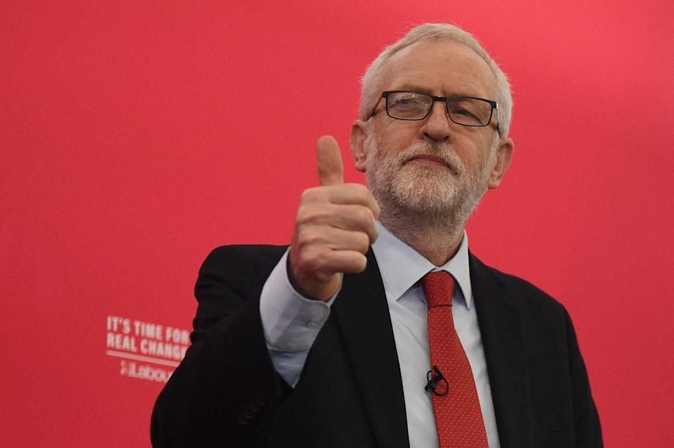 Opposition Labour party leader Jeremy Corbyn: AFP via Getty Images