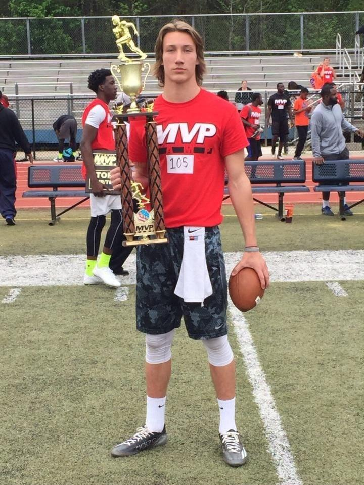 As a freshman at Cartersville High School in Georgia, Trevor Lawrence won the Underclassman Award at MVP Camp for the second consecutive year. [Rusty Mansell/Provided]