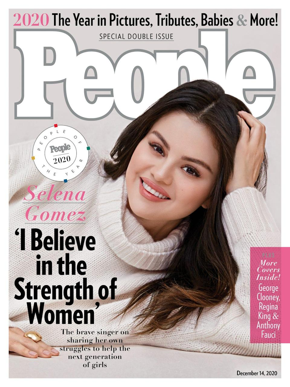 """<p>Watch the full episode of <em><a href=""""https://peopletv.com/video/people-of-the-year-2020-selena-gomez"""" rel=""""nofollow noopener"""" target=""""_blank"""" data-ylk=""""slk:People of the Year: Selena Gomez"""" class=""""link rapid-noclick-resp"""">People of the Year: Selena Gomez</a> </em>streaming now on PeopleTV.com, or download the PeopleTV app on your favorite device. And pick up PEOPLE's year-end double issue — featuring Gomez's fellow People of the Year George Clooney, Regina King and Dr. Anthony Fauci — on newsstands Friday.</p>"""