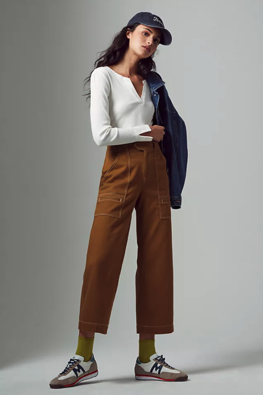 Porter Cropped Wide-Leg Pants. Image via Anthropologie.