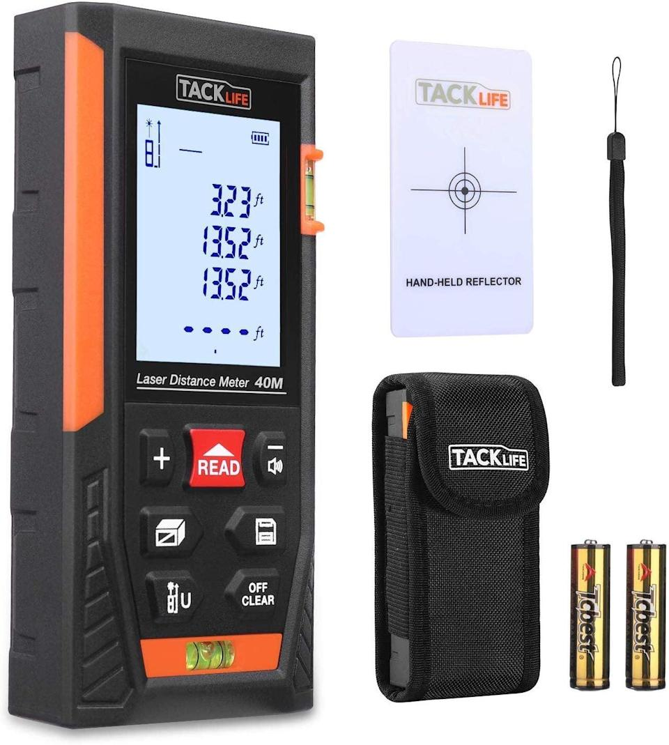 <p>This <span>Tacklife HD40 Classic Laser Measure Distance Meter</span> ($26) is great for household chores.</p>