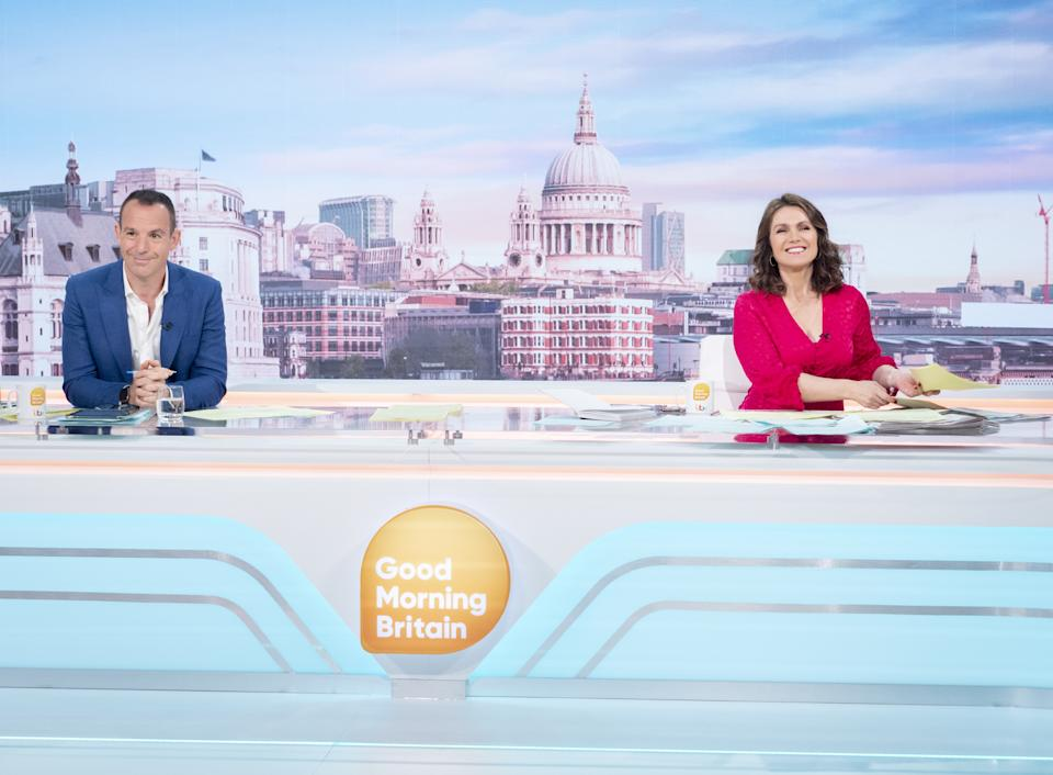 Martin Lewis is co-hosting 'Good Morning Britain' with Susanna Reid. (ITV/Shutterstock)