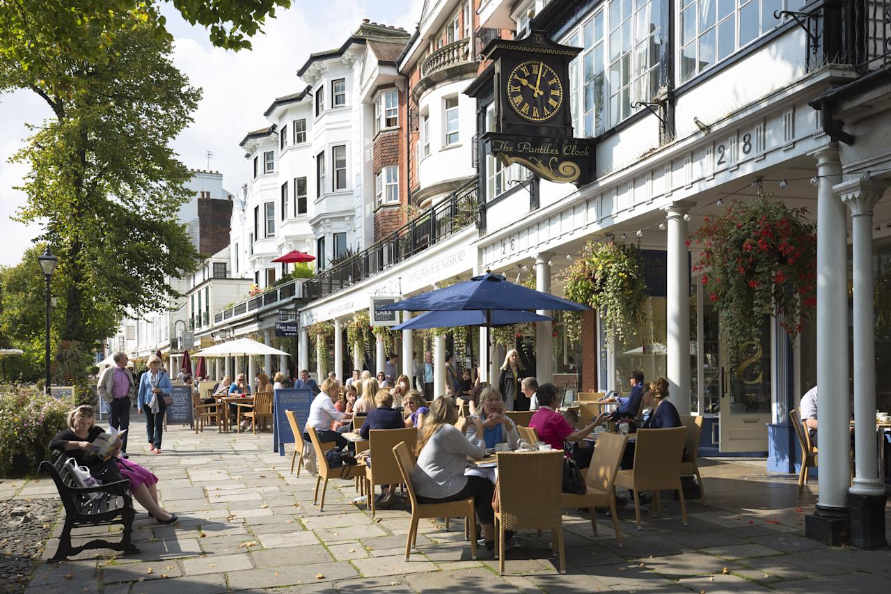 <p><span>Tunbridge Wells: The Kent town boasts a large number of cafe, restaurants and bars and is home to about 56,000 people. (Tim Graham/Getty Images)</span> </p>