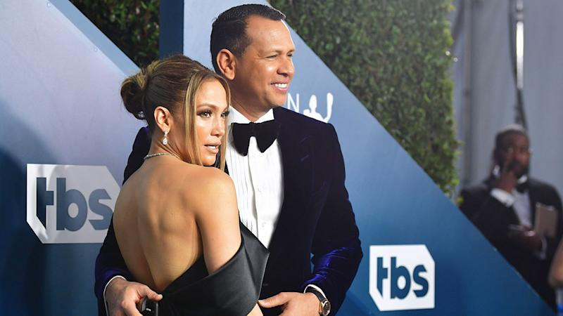 Pictured here, Alex Rodriguez and wife Jennifer Lopez.