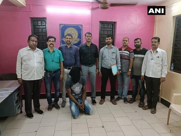 The nigerian held by the Mumbai narcotics cell. (Photo/ANI)