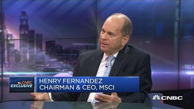 Henry Fernandez, CEO of MSCI, says the decision to include China A-shares in the MSCI EM index was based on the success of the mainland's stock connect programs.