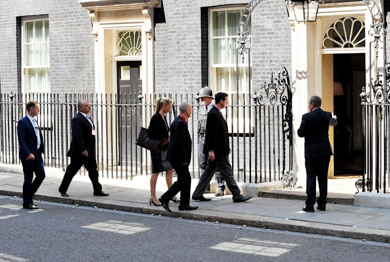Families of Britons killed in the downing of the plane visit Downing Street for a meeting with David Cameron who was prime minister at the time. (Photo: PA Archive/PA Images)