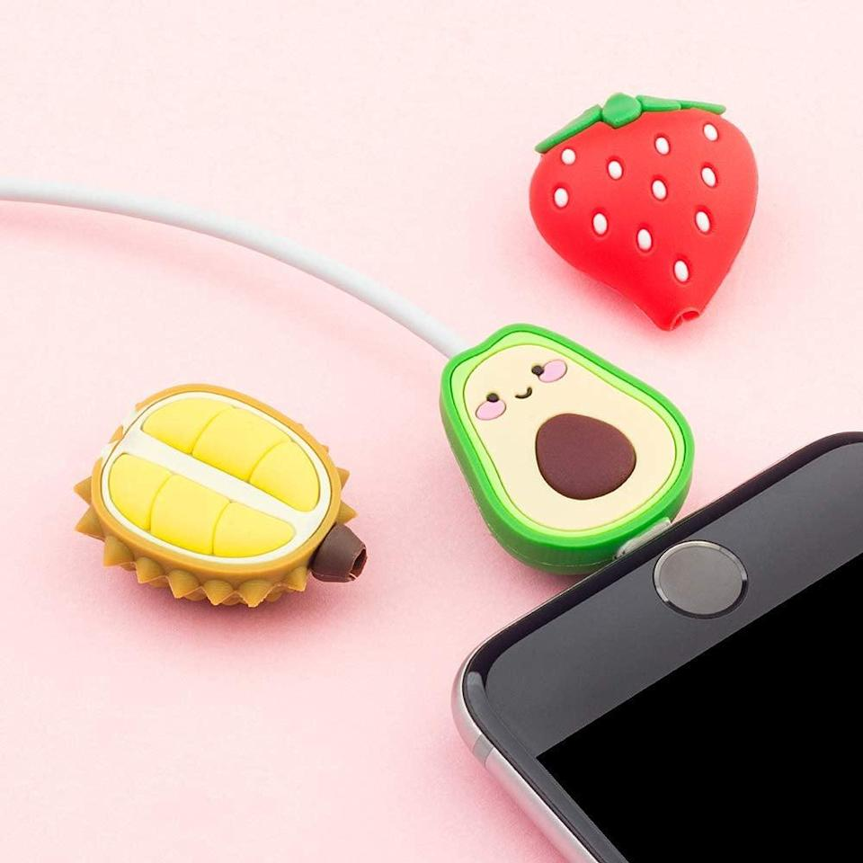 <p>This <span>Cute Animal Bite Cable Protector Pack </span> ($12) comes with nine cute characters.</p>