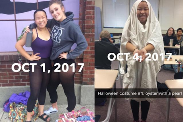 Molly Foote loves Halloween so much that she's dressing up in a costume every day for the month of October. (Photo: Twitter/mollyyfootee)
