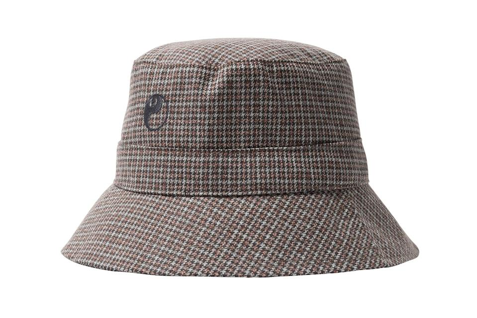 "$135, Stüssy. <a href=""https://www.stussy.com/collections/new-arrivals/products/bucket-hat-houndstooth?variant=39274023649376"" rel=""nofollow noopener"" target=""_blank"" data-ylk=""slk:Get it now!"" class=""link rapid-noclick-resp"">Get it now!</a>"