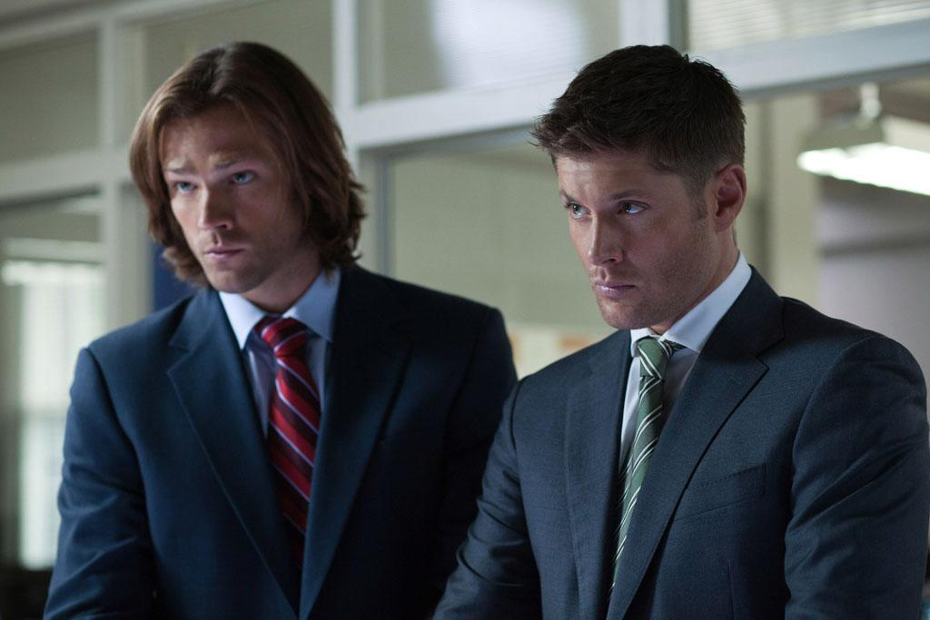 "Jared Padalecki as Sam and Jensen Ackles as Dean in the ""Supernatural"" episode, ""Heartache."""