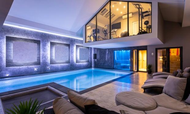 The home in Prestbury, in Cheshire's 'golden triangle', replete with gym and pool (of course). Photograph: Rightmove