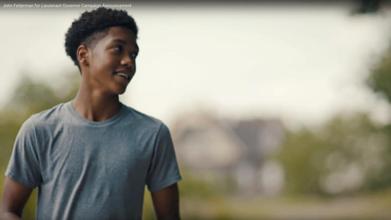 FILE – This undated file photo of a frame from video provided by the John Fetterman for Lieutenant Governor campaign shows Antwon Rose Jr. in a campaign announcement. The fatal police shooting of Rose as he fled during a traffic stop on June 19, 2018, is the first in the Pittsburgh area in the Black Lives Matter era, and it is galvanizing residents who say they've been frustrated for too long. (John Fetterman for Lieutenant Governor via AP, File)