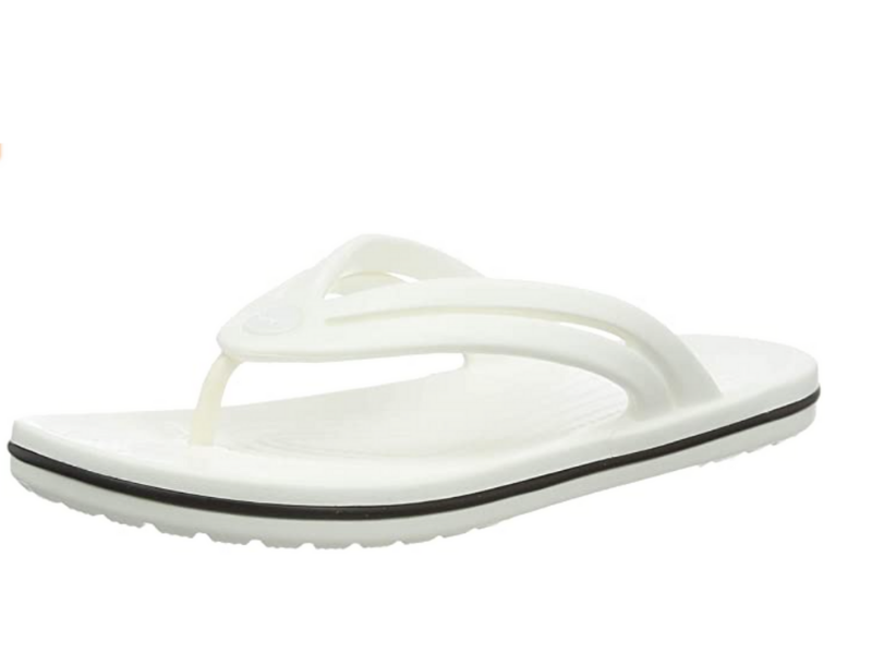 Croc Women's Crocband Flip Flop | Slip-on Water Shoes | Casual Summer Sandal Flip-Flop in White