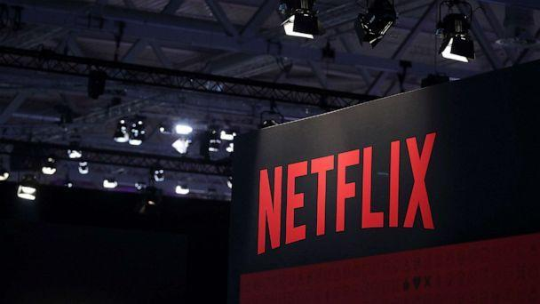 PHOTO: A Netflix Inc. logo sits at the Gamescom gaming industry event in Cologne, Germany, Aug. 20, 2019. (Krisztian Bocsi/Bloomberg via Getty Images, FILE)