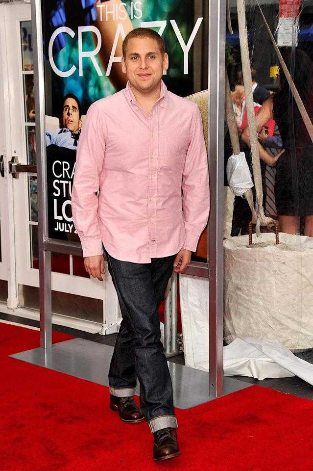"""<a href=""""http://movies.yahoo.com/movie/contributor/1808716500"""">Jonah Hill</a> at the New York City premiere of <a href=""""http://movies.yahoo.com/movie/1810157025/info"""">Crazy, Stupid, Love</a> on July 19, 2011."""