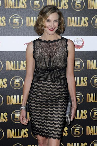 """FILE - In this Aug. 21, 2012 file photo, Brenda Strong arrives for the Dallas launch party in London. Strong, a 2012 Emmy nominee, would love to be on the TV show """"Game of Thrones"""" playing a queen as her dream role. (AP Photo/Jonathan Short, File)"""