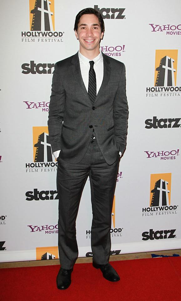 """<a href=""""http://movies.yahoo.com/movie/contributor/1804512153"""">Justin Long</a> attends the 14th Annual Hollywood Awards Gala at the Beverly Hilton Hotel on October 25, 2010."""