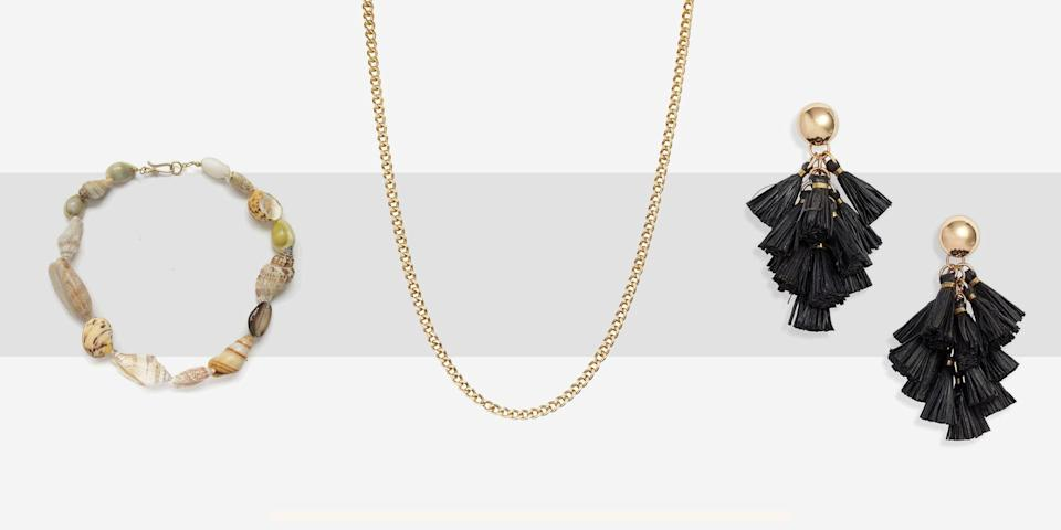 """<p class=""""body-dropcap"""">Luckily for jewelry lovers, our favorite sparkly pieces are inherently <a href=""""https://www.townandcountrymag.com/style/fashion-trends/g28762949/best-sustainable-fashion-brands/"""" rel=""""nofollow noopener"""" target=""""_blank"""" data-ylk=""""slk:sustainable"""" class=""""link rapid-noclick-resp"""">sustainable</a>: metals like gold and silver as well as gemstones can be reused for eternity. In fact, one could argue that jewelry only gets better with age! Today's jewelry designers have tapped into this, using recycled gold and silver and sourcing ethical gems (either fairtrade or reused from other pieces) to create beautiful jewelry that also make the world a better place. There are fine jewelry designers working in precious stones for bespoke masterpieces and fun costume jewelry made from unique materials like raffia and shells. Below, you'll find sustainable jewelry for every occasion, from an everyday chain to a once-in-a-lifetime engagement ring. </p>"""