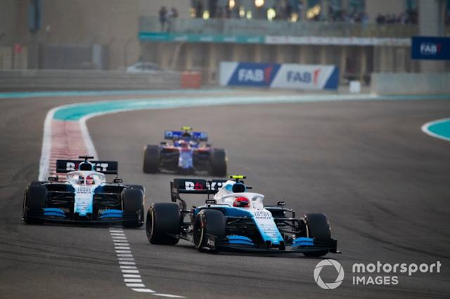 "Robert Kubica, Williams FW42, precede George Russell, Williams Racing FW42, e Pierre Gasly, Toro Rosso STR14 <span class=""copyright"">Sam Bloxham / Motorsport Images</span>"