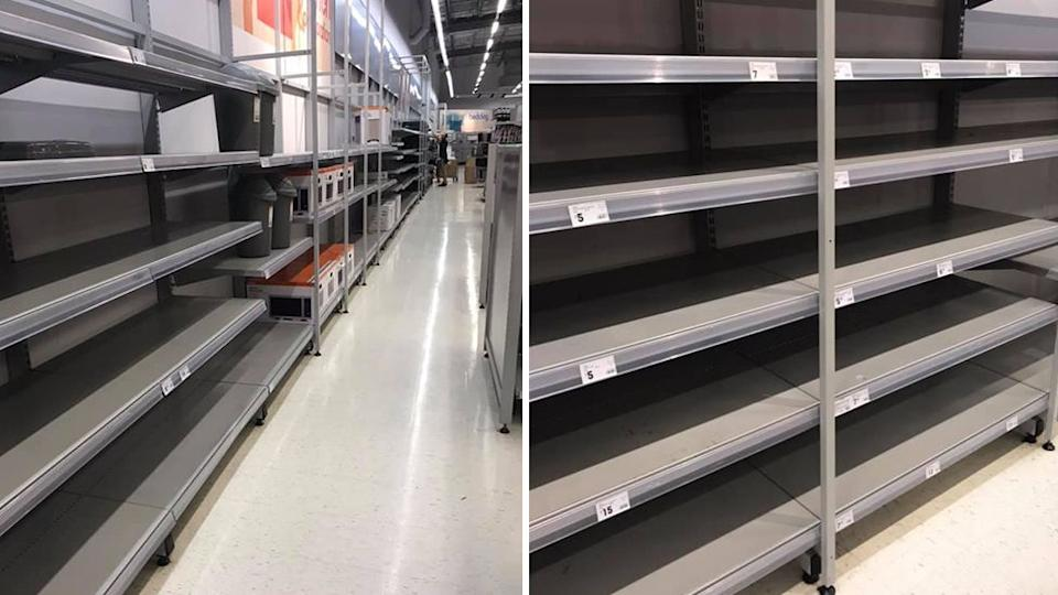 Yawning shelves haven't escaped the notice of irate customers. Photo: Supplied