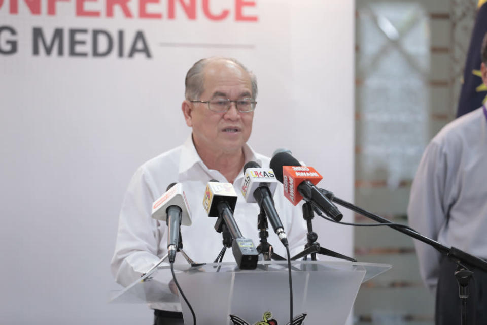 Sarawak Disaster Management Committee chairman Datuk Amar Douglas Uggah said the decision was made after consulting the state Education Department, state Health Department and the Sarawak Security Council. — Picture courtesy of Sarawak Public Communications Unit (Ukas)