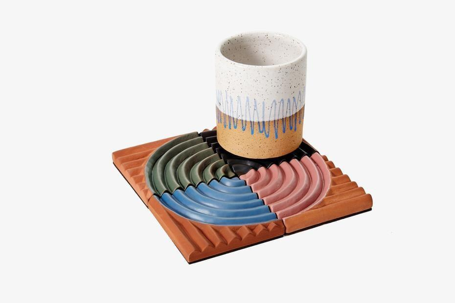 <p>These <span>Ben Medansky Dune Coasters</span> ($45) are both stylish and help prevent rings.</p>