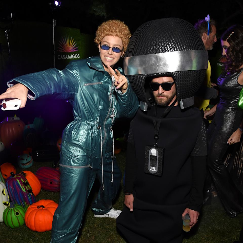 Jessica Biel and Justin Timberlake at the 2019 Casamigos Halloween Party. (Photo by Michael Kovac/Getty Images for Casamigos)