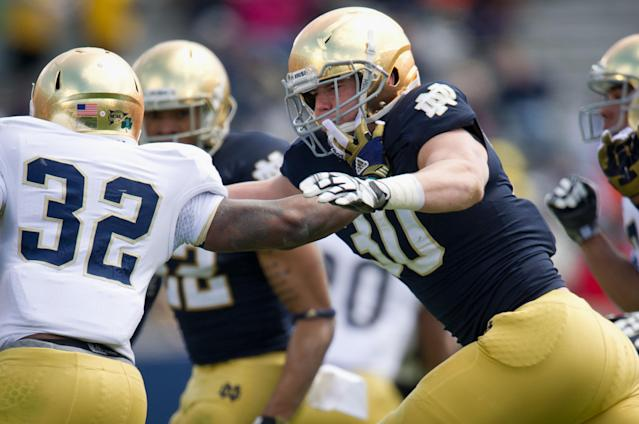 Notre Dame receiver Will Mahone charged with three felonies, including assault of a police officer