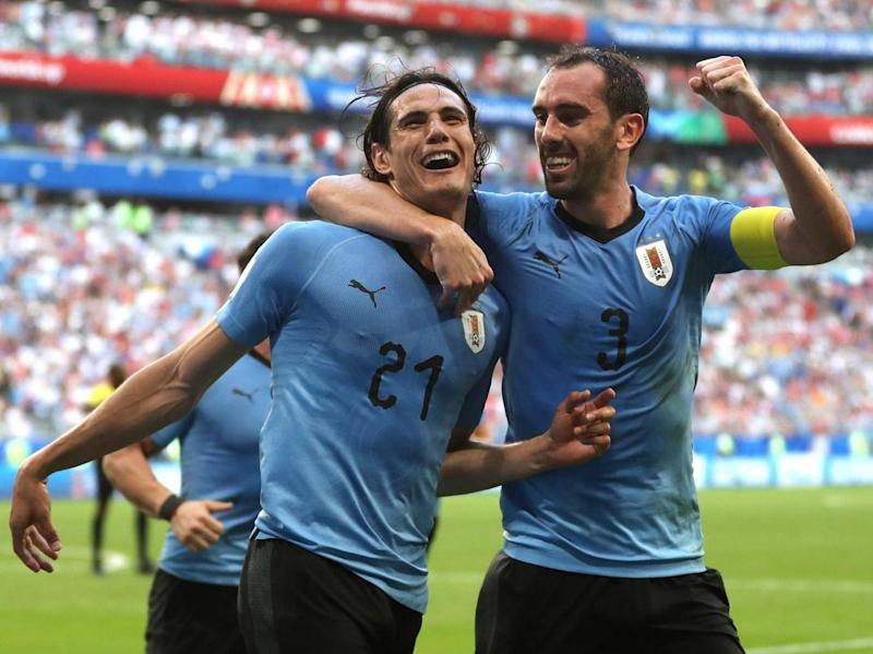 Cavani scored Uruguay's third (Getty Images)
