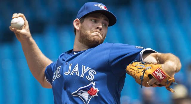 Joe Biagini has pitched using a much simpler approach lately, with strong results. (Fred Thornhill/CP)