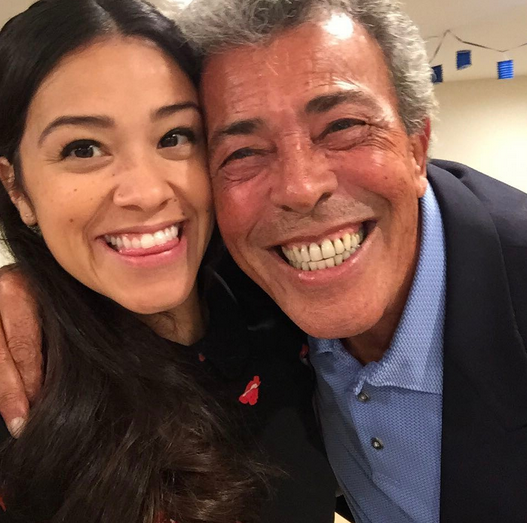 "<p>Where did Gina Rodriguez get her smile? No idea. None at all. ""You are my best friend Dad,"" the <em>Jane the Virgin</em> star wrote. ""I love you to the moon. When I'm with you smiling is all I can do. There aren't enough thank you's In the world so I'll just remind you everyday how grateful I am for the father you have been to me and my sisters."" (Photo: <a href=""https://www.instagram.com/p/BVfBbJnALls/?taken-by=hereisgina"" rel=""nofollow noopener"" target=""_blank"" data-ylk=""slk:Gina Rodriguez via Instagram"" class=""link rapid-noclick-resp"">Gina Rodriguez via Instagram</a>) </p>"