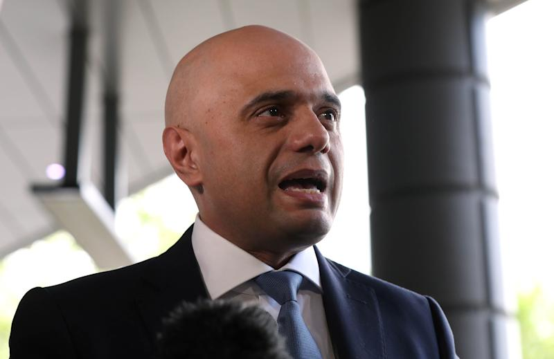 Conservative party leadership contender Sajid Javid arriving for the Conservative National Convention meeting at the Park Plaza Riverbank Hotel, central London.