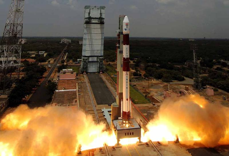 """India's Polar Satellite Launch Vehicle wouldbe carrying a 714 kilogram main satellite for earth observation and 103 smaller """"nano satellites"""" which would weigh a combined 664 kilograms"""