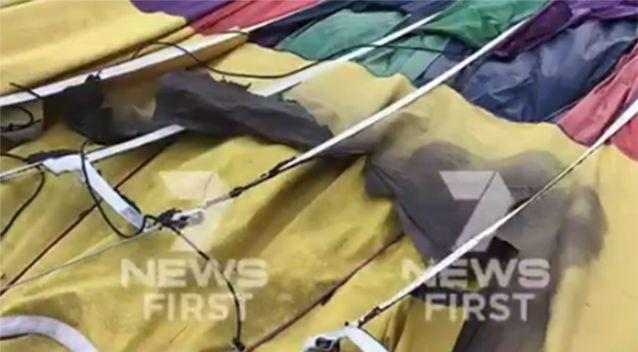 It's understood at least one balloon crash landed. Source: Channel 7