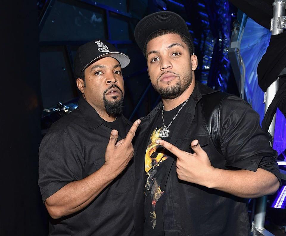 <p>When Ice Cube and the rest of N.W.A. decided to make <em>Straight Outta Compton</em> documenting their rise to fame, the rapper and actor didn't have to look too far to cast the part of his younger self—his son O'Shea is his mirror image!</p>